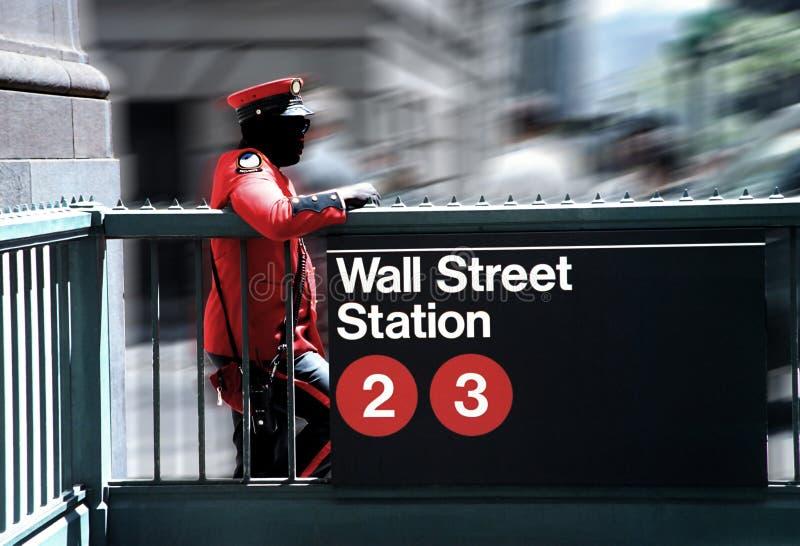 Schützende Wall Street stockbilder
