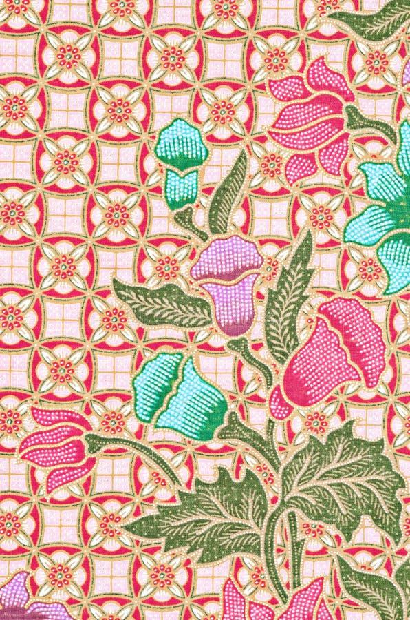 Sch?n Kunst vom thail?ndischen Batik-Muster lizenzfreie stockbilder