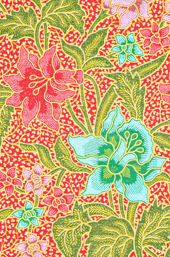 Sch?n Kunst vom thail?ndischen Batik-Muster lizenzfreies stockbild