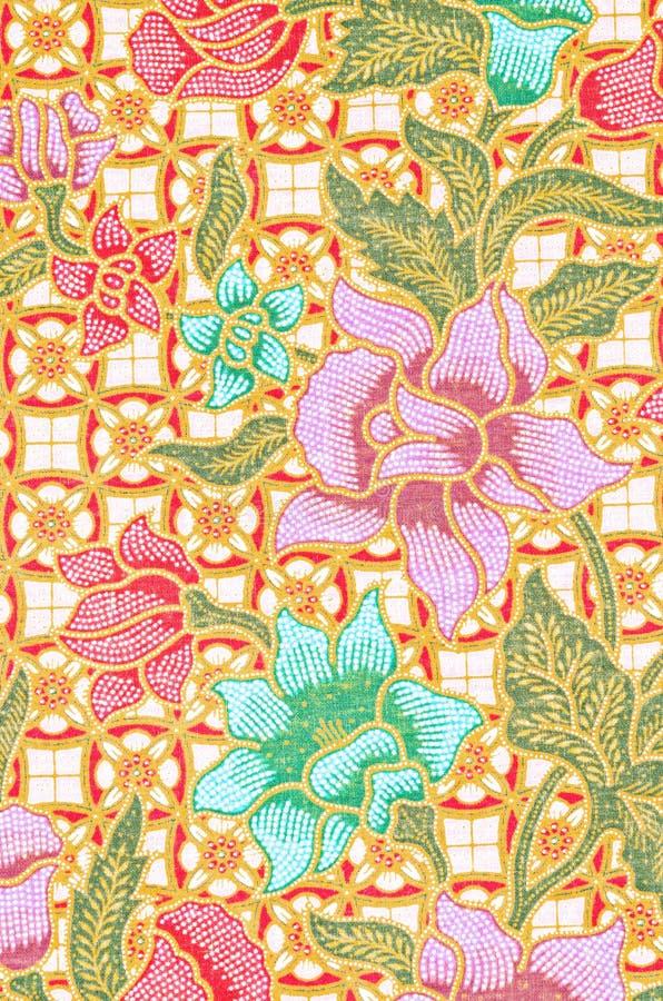 Sch?n Kunst vom thail?ndischen Batik-Muster stockfoto