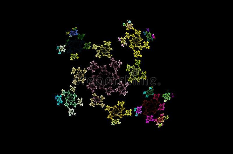 Sch?ne gr?ne gelbe Linien Muster, gro?er Entwurf zu irgendwelchen Zwecken Sch?ner abstrakter Begriff lizenzfreie abbildung