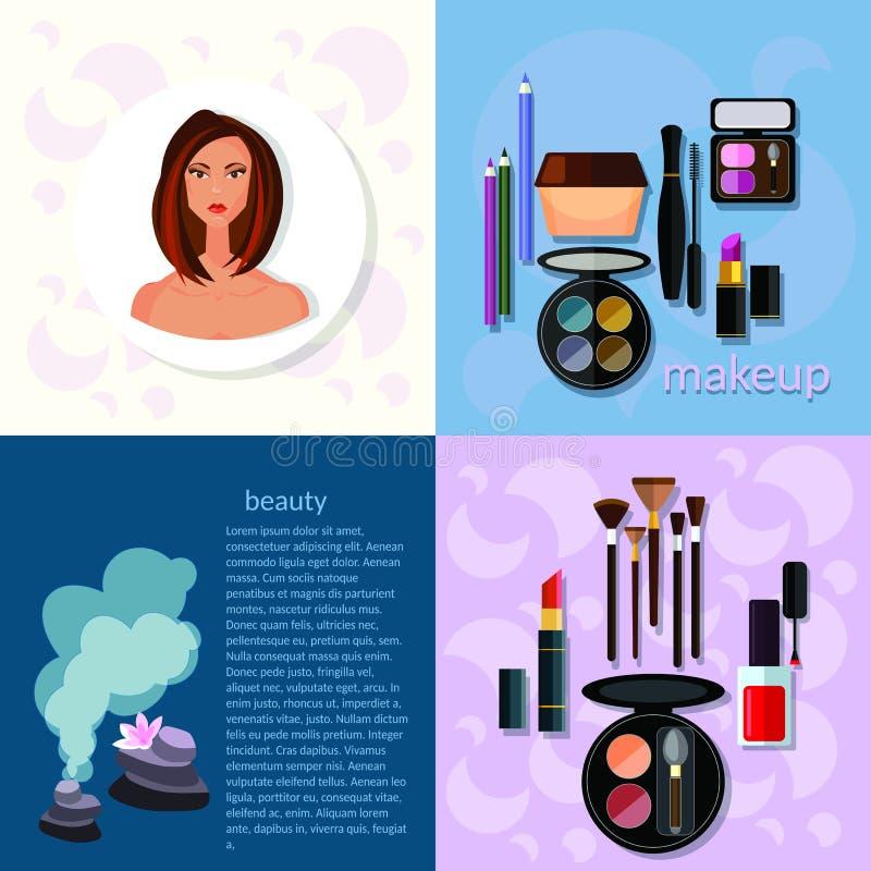 Sch?ne h?bsche Frau im Make-up! stock abbildung