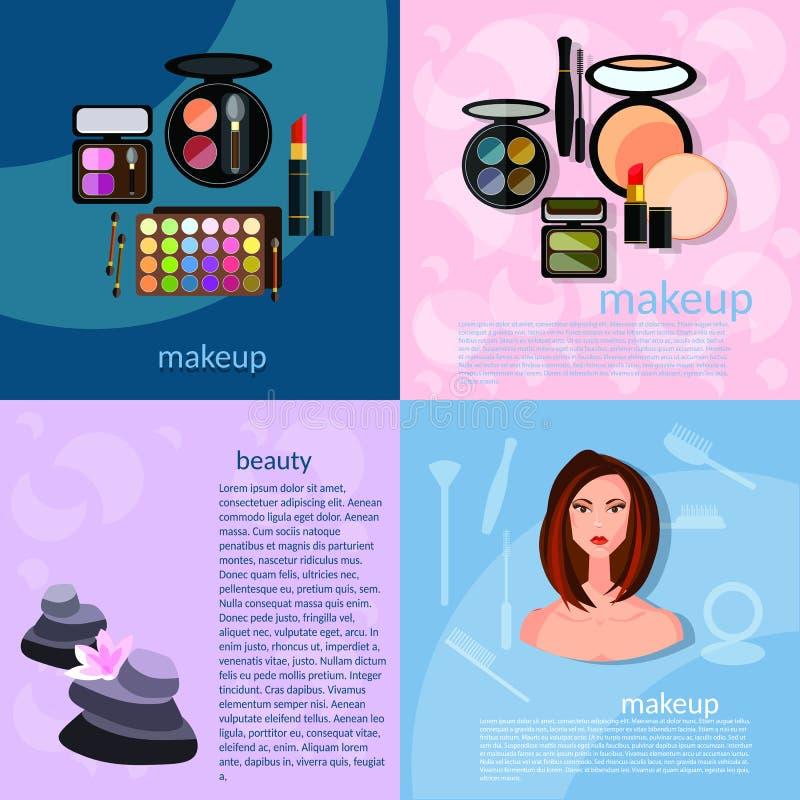 Sch?ne h?bsche Frau im Make-up! vektor abbildung