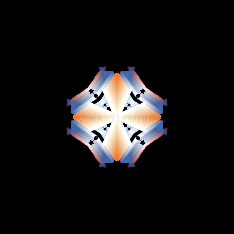 Sch?ne Mehrfarbenbeschaffenheit Einzigartiges Kaleidoskopdesign vektor abbildung