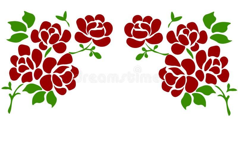 Sch?ne Rose lokalisiert auf Wei? Vervollkommnen Sie f?r Hintergrundgru?karten und Einladungen der Hochzeit, Geburtstag, Valentins stock abbildung