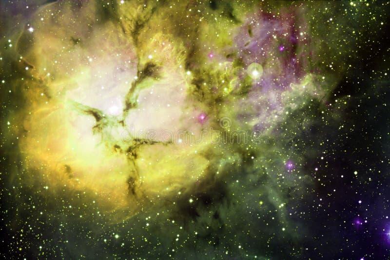 Sch?ner Galaxiehintergrund mit Nebelfleck, stardust und hellen Sternen lizenzfreie abbildung