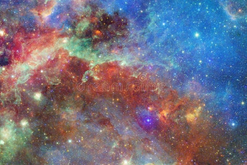 Sch?ner Galaxiehintergrund mit Nebelfleck, stardust und hellen Sternen stock abbildung