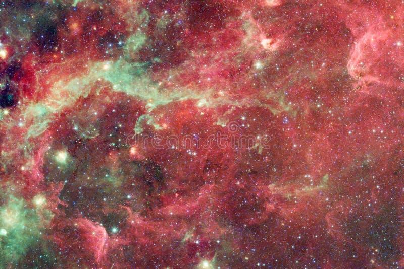 Sch?ner Galaxiehintergrund mit Nebelfleck, stardust und hellen Sternen vektor abbildung