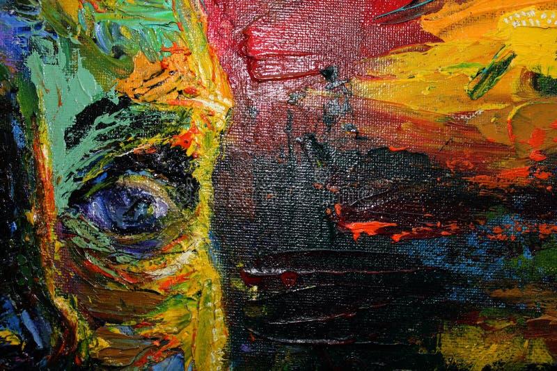 Sch?nes junges blaues Auge des Frauenauges? Helles backround der abstrakten Kunst stockfoto
