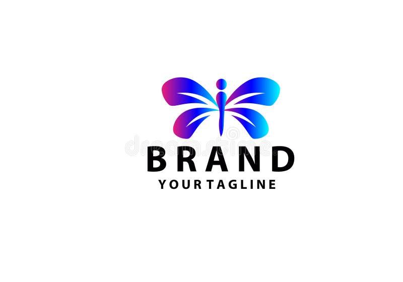 Sch?nheits-Schmetterlings-Logo Template Vector-Ikonendesign lizenzfreie abbildung