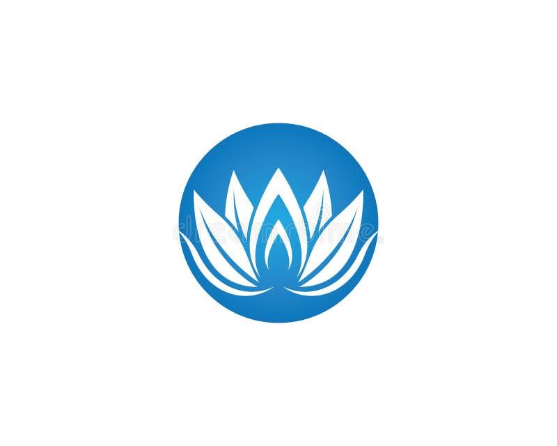 Sch?nheitsblumen-Logoillustration lizenzfreie abbildung