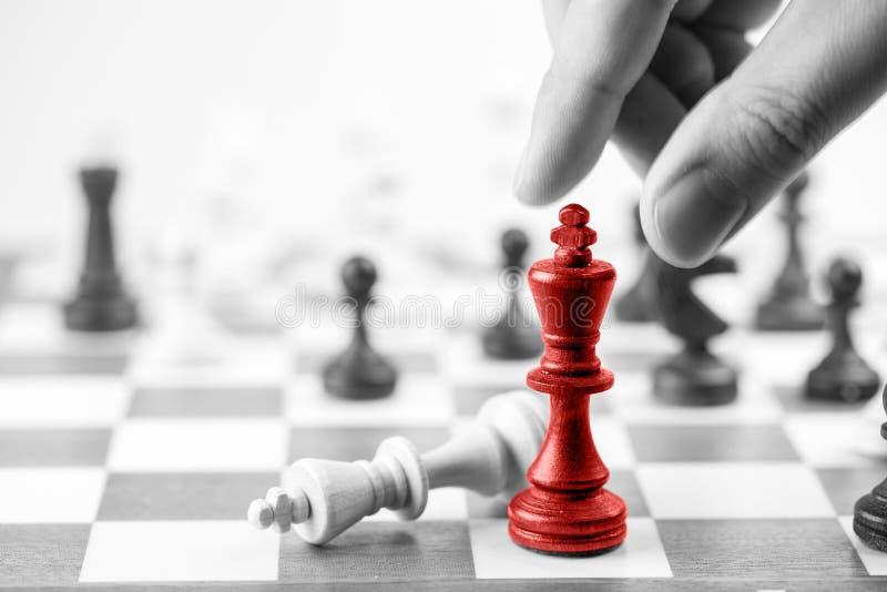 Schaak bedrijfsconcept, leider & succes royalty-vrije stock afbeeldingen