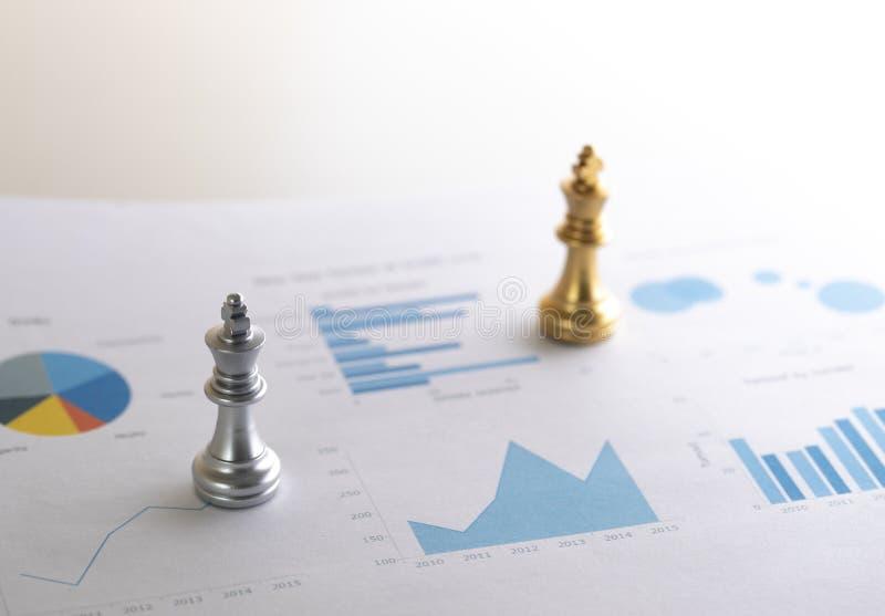 Schaak op bedrijfsgrafiek voor bedrijfsstrategieconcept, succes a royalty-vrije stock afbeelding