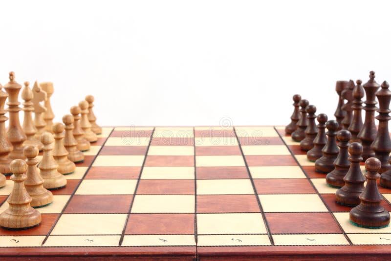 Schaak op schaakbord royalty-vrije stock afbeelding