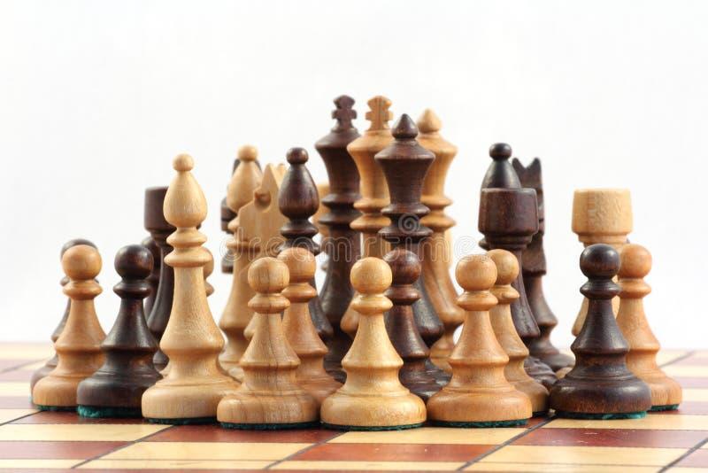 Schaak op schaakbord royalty-vrije stock foto's