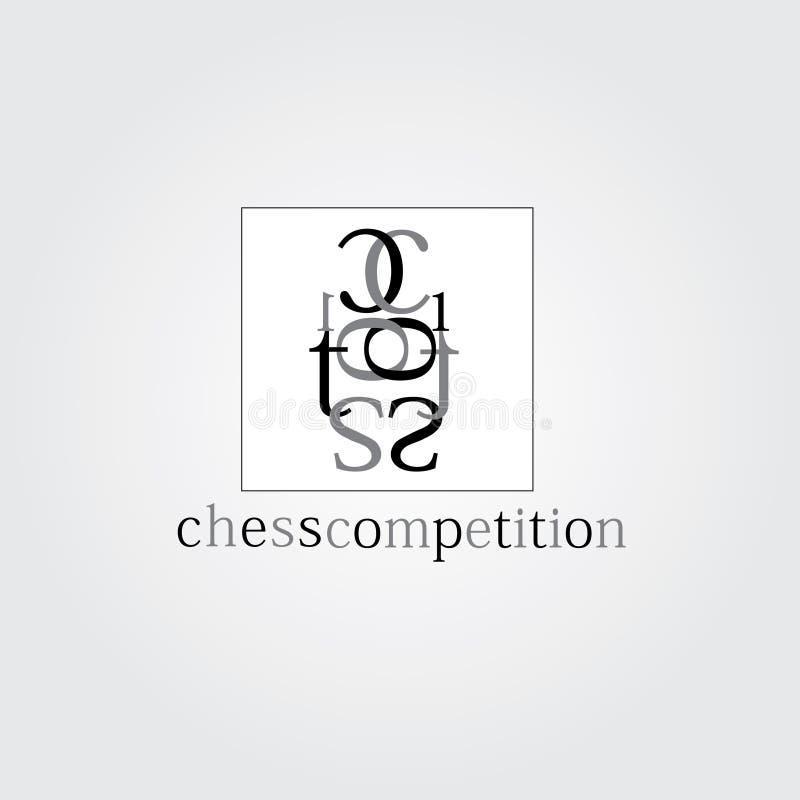 Schaak vectorembleem Het embleem van de schaakconcurrentie vector illustratie