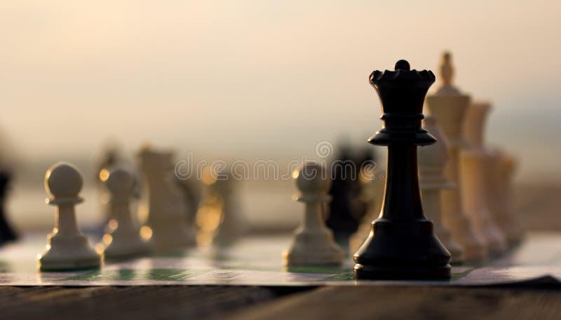 Schaakkoningin royalty-vrije stock afbeeldingen