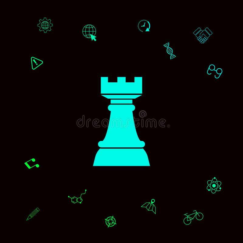 Schaakroek Strategiepictogram vector illustratie