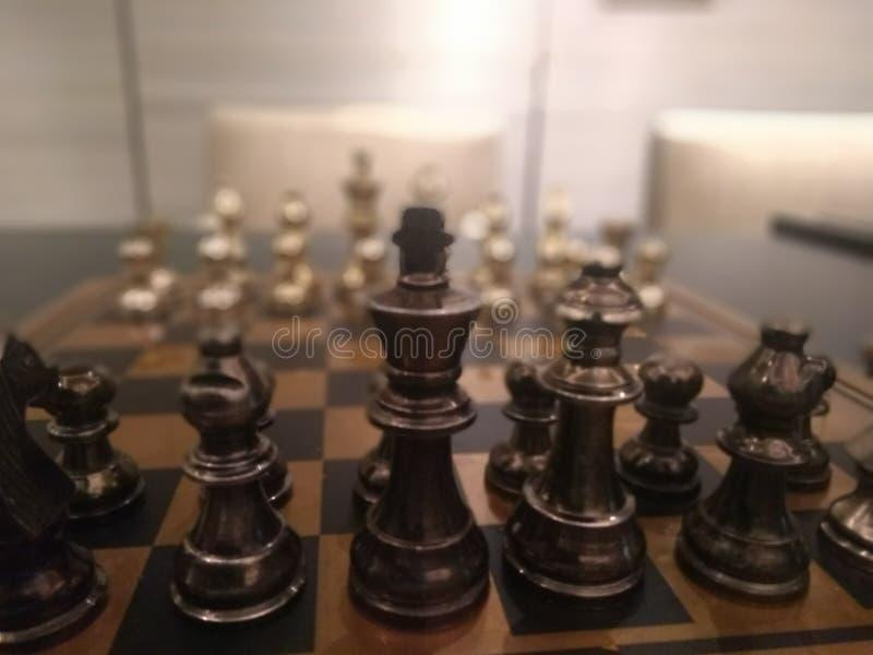 Schaakspel in Dlf-wandelgalerij royalty-vrije stock afbeeldingen