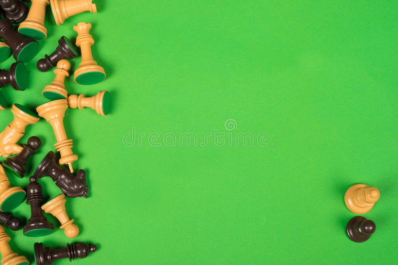 Schaakstukken stock fotografie