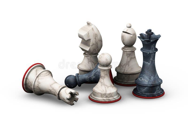 Schaakstukken royalty-vrije illustratie