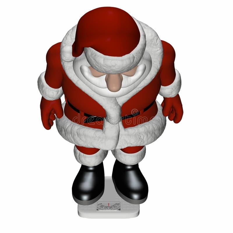Schaal 1 van de kerstman stock illustratie