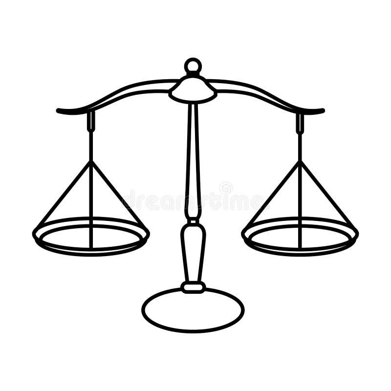 Schaal financieel pictogram vector illustratie