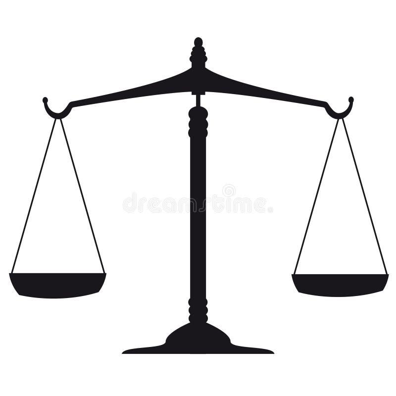 Schaal van Rechtvaardigheid vector illustratie