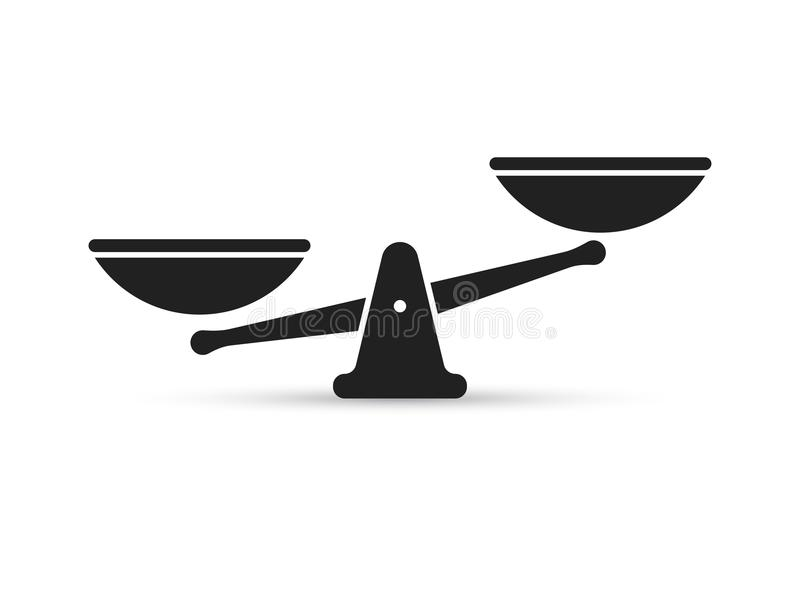 Schaal vectorpictogram van gewicht of rechtvaardigheidsschalen vector illustratie