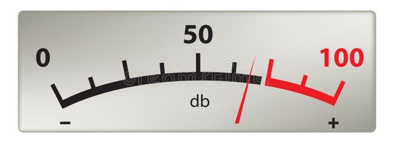 Schaalmeting in decibel stock illustratie