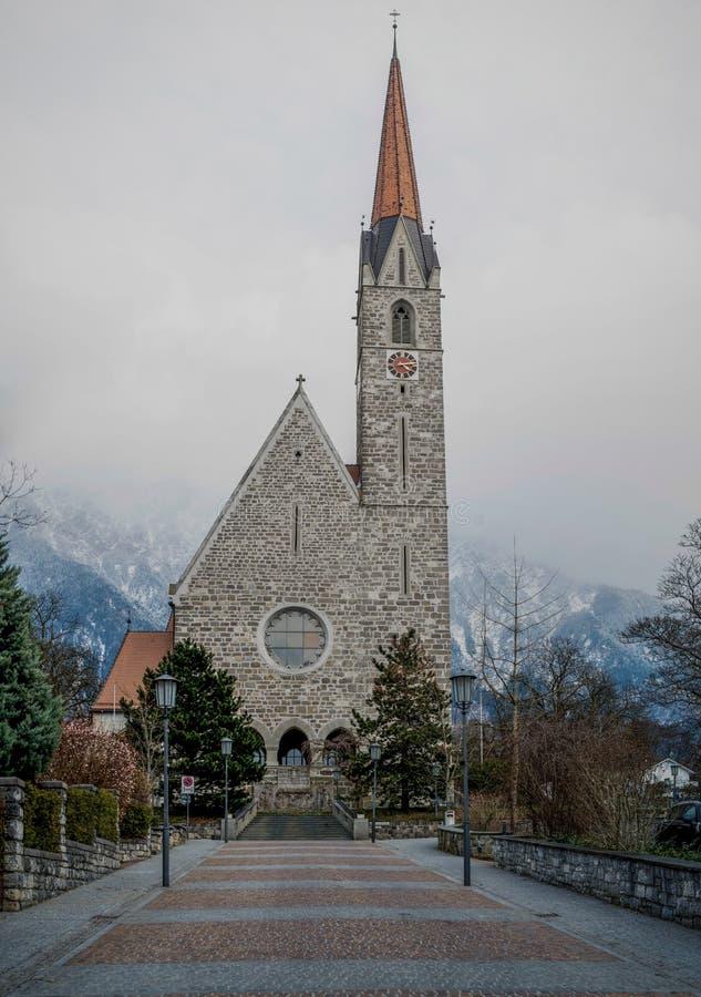 Schaan教会 库存照片