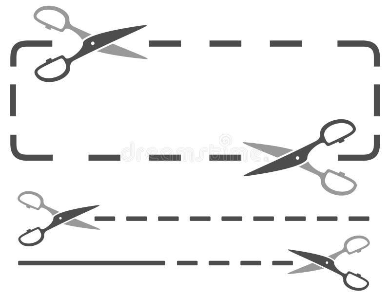 Schaar met gestippelde lijn vector illustratie