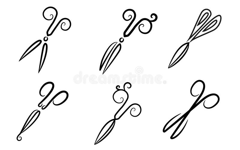 Schaar. stylization. royalty-vrije illustratie
