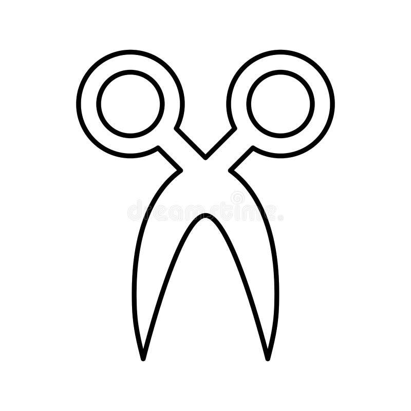 Schaarsilhouet geïsoleerd pictogram royalty-vrije illustratie