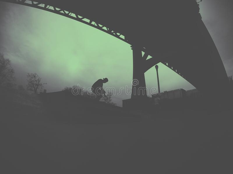 Schaatser in Astoria-Park, NY stock foto's