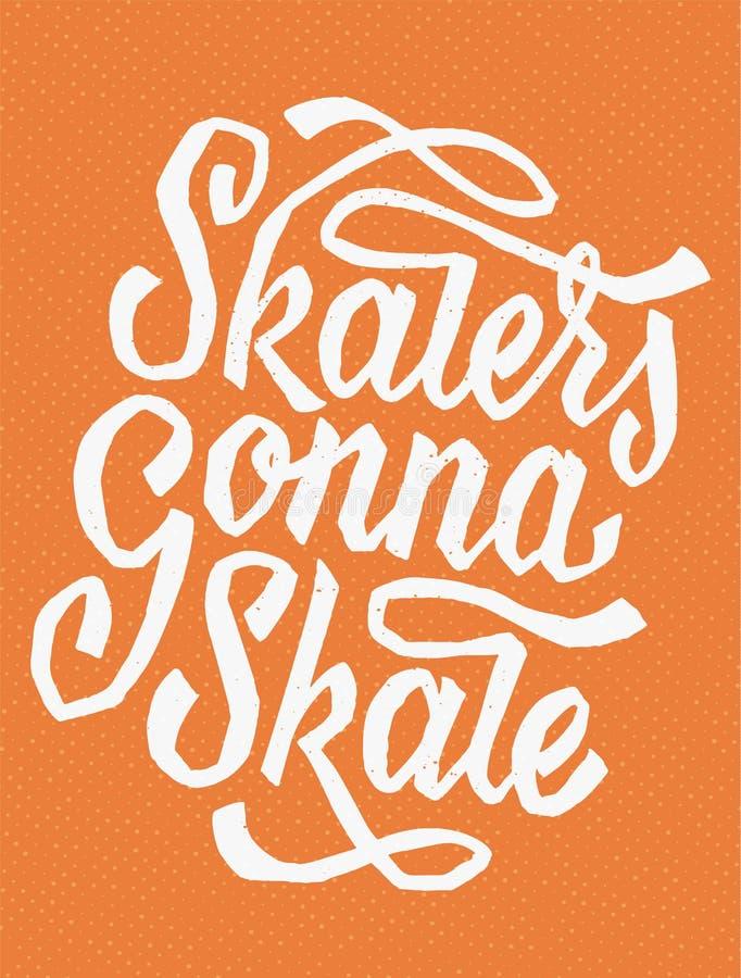 Schaatsers die gaan schaatsen vector illustratie