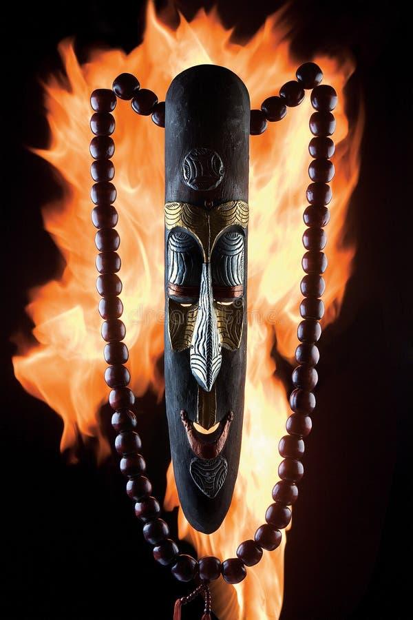 Schablone auf Feuer stock abbildung