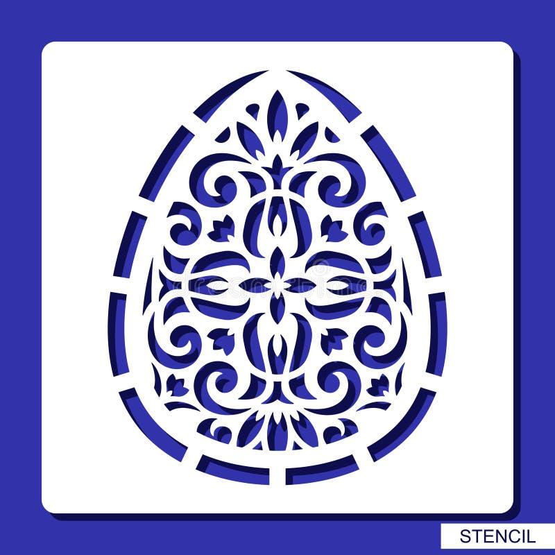 Schablone - dekoratives Easter Egg vektor abbildung