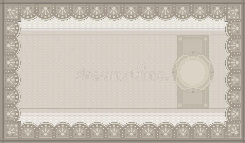 Schablone des Belegkuponpapier-freien Raumes lizenzfreie abbildung