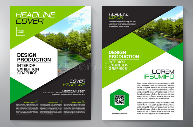 Schablone des Geschäftsbroschürenflieger-Designs a4 stock abbildung