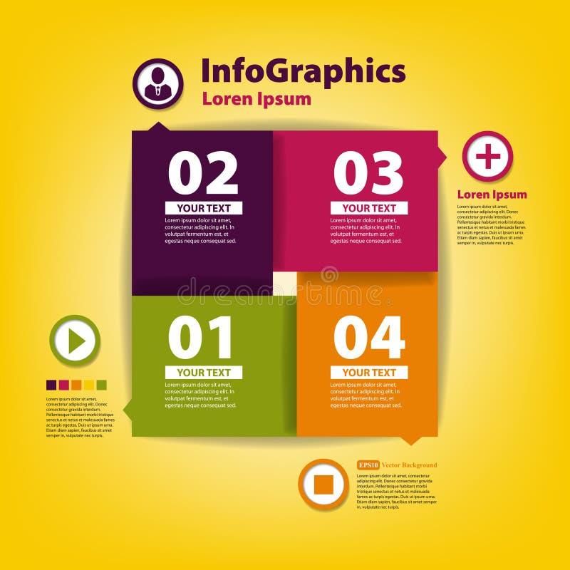 Schablone des modernen Designs für infographic mit Ikonen vektor abbildung