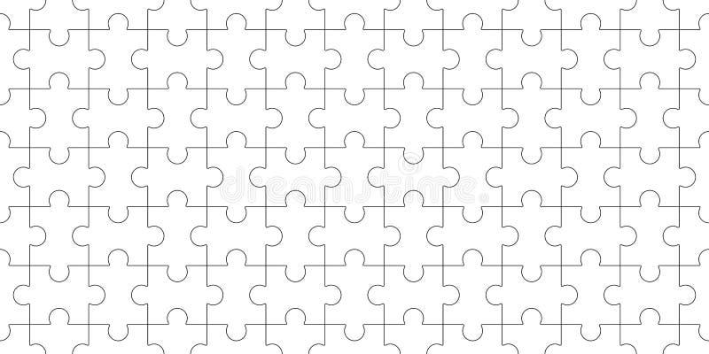 Schablone des Puzzlefreien raumes, nahtloses Puzzlespielmuster mosaik lizenzfreie abbildung
