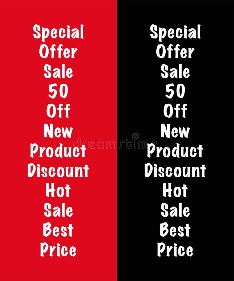 Schablone des Textes oder des Beschriftens Vektorillustration ENV 10 Verkauf rabatt Neues Produkt Heißer Verkauf 50 weg Schmutzbü lizenzfreie abbildung