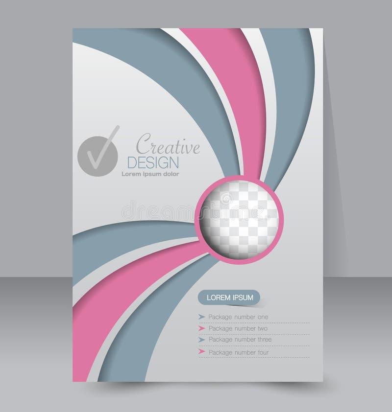 Schablone für Broschüre oder Flieger Editable Plakat A4 lizenzfreie abbildung