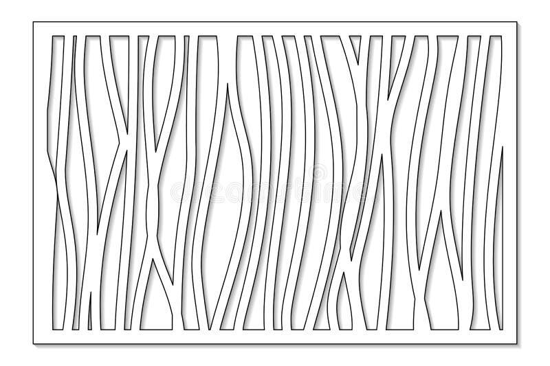 Schablone für den Schnitt Abstrakte Linie, geometrisches Muster Laser-Schnitt Stellen Sie Verhältnis2:3 ein Auch im corel abgehob lizenzfreie abbildung