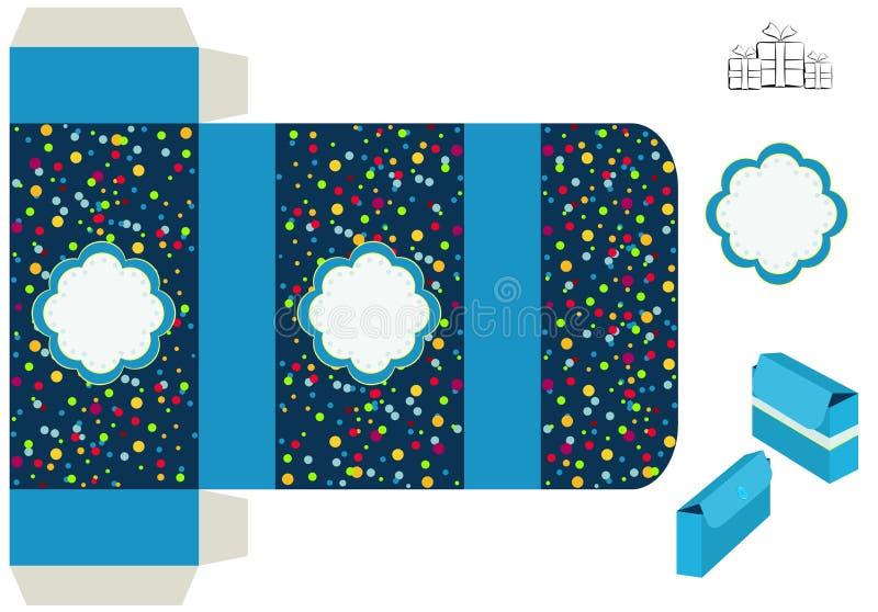 Schablone für Geschenkbox lizenzfreie abbildung