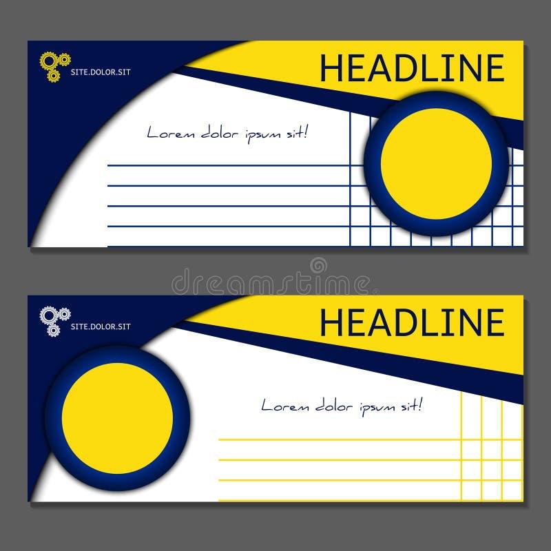 Schablone für Geschenkgutschein, Karte, Kupon Vektor, Illustration stock abbildung