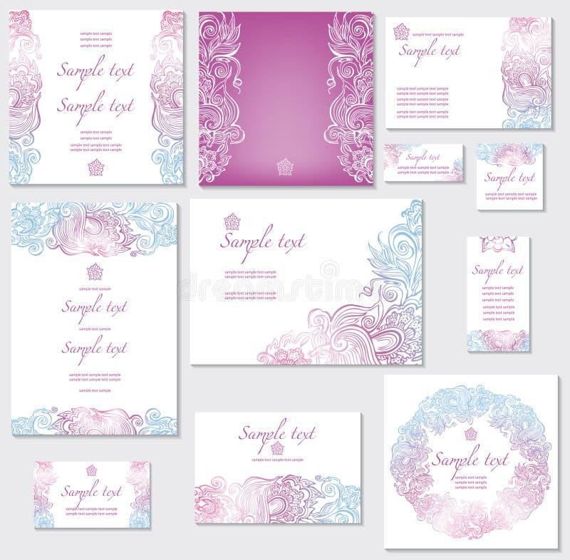 Schablone für Hochzeitskarten vektor abbildung