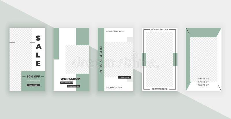 Schablone für Instagram-Geschichten Moderner Modeabdeckungsentwurf für Social Media, Flieger vektor abbildung