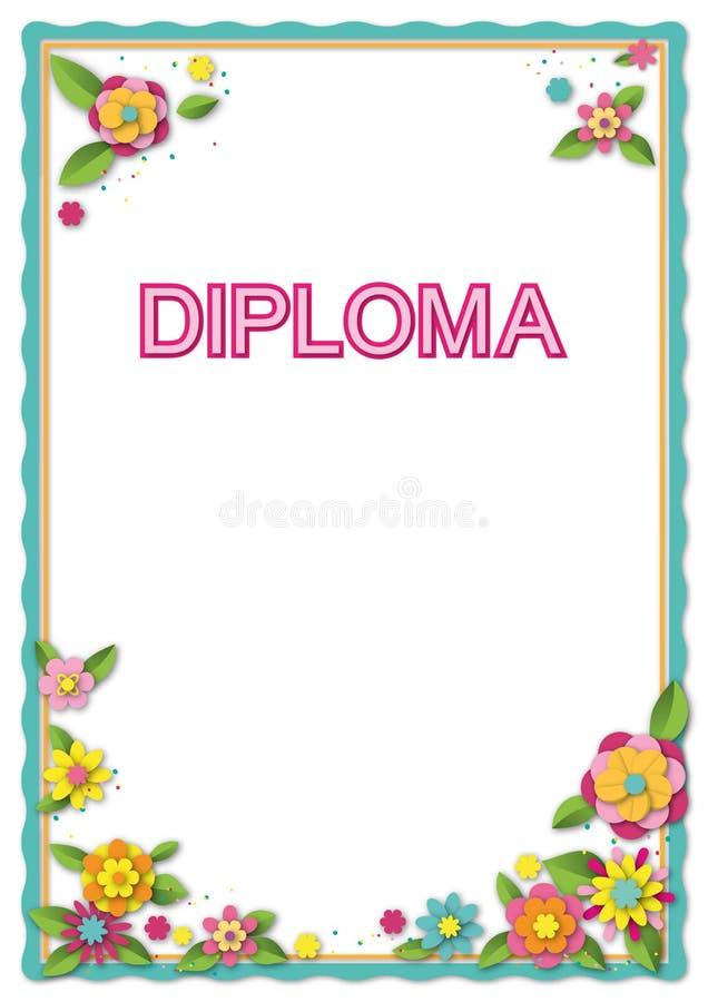 Schablone für Karte, Diplom, Zertifikat lizenzfreie abbildung